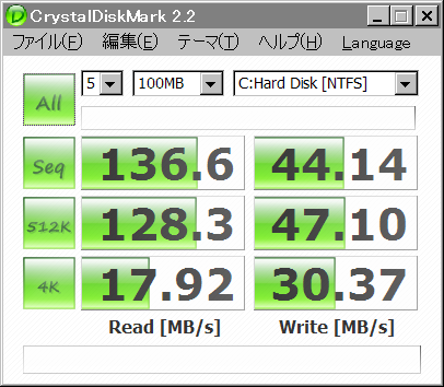 Crystal Disk Mark 20090131 SSD