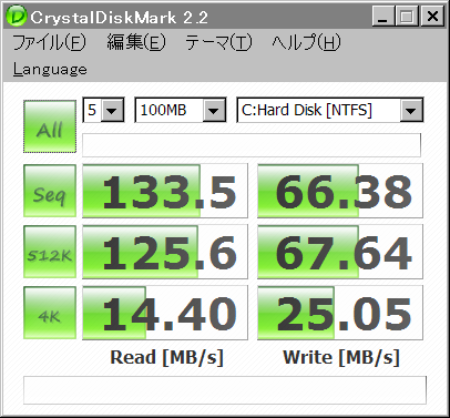 Crystal Disk Mark 20090415 SSD
